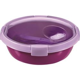 Curver Smart to go 1 l lila ételtartó evőeszközzel