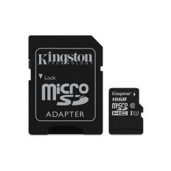Kingston Canvas Select 16GB Class10 UHS-I  (80/10) MicroSDHC memóriakártya + adapter