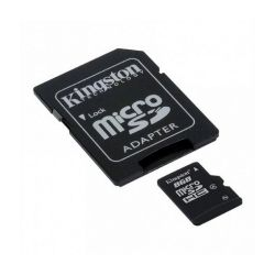 KINGSTON MicroSDHC 8GB CLASS 4 Memóriakártya + Adapter
