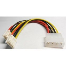 Kolink Molex PW-4 (Male) - 2x Berg/FDD (Female) Táp Átalakító kábel
