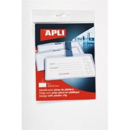 APLI 100x72 mm csíptetővel névkitűző
