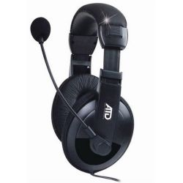 Akai ATD M-288M fekete mikrofonos fejhallgató