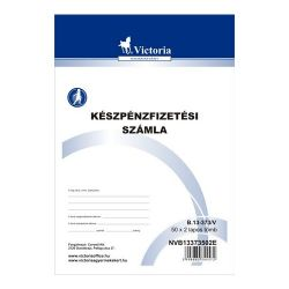 """Victoria """"B.13-373"""" 50x2 lapos A5 készpénzfizetési számlatömb"""