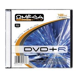 OMEGA DVD+R 4.7GB 16x Slim írható DVD lemez