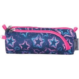 Pulse Blue Star cipzáras kék-rózsaszín tolltartó