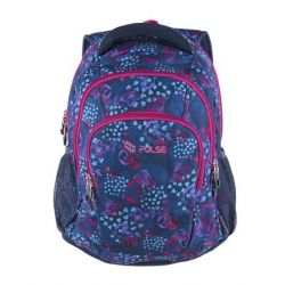 Pulse Teens Blue Hearts kék-rózsaszín hátizsák