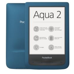"POCKETBOOK PB641 AQUA, 6"" E-Ink, Multi touch, Cpu: 1GHz, 256MB, 8GB, 1500mAh, wifi, mUSB, vízálló, ciánkék e-book"