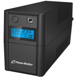 Power Walker UPS Line-Interactive 650VA 2x 230V PL OUT, RJ11 IN/OUT, USB, LCD Szünetmentes táp