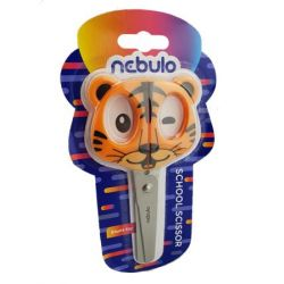 Nebulo 13,5 cm tigriskölyök iskolai olló