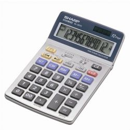 """SHARP """"EL-337"""" 12 számjegyes asztali számológép"""