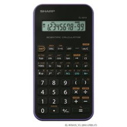 """SHARP """"EL-501XVL"""" tudományos lila számológép 131 funkcióval"""
