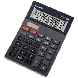 """CANON """"AS-120"""" 12 számjegyes környezetbarát asztali számológép"""
