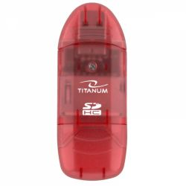 Esperanza Titanum TA101R SDHC/MiniSDHC/MicroSDHC/RS/MM piros univerzális kártyaolvasó