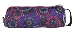 PULSE Solo Purple Flower cipzáras lila-rózsaszín tolltartó