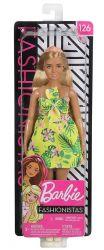 Mattel Barbie Fashionistas pálmaleveles ruhában baba