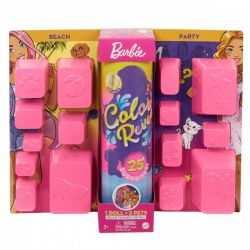 Mattel Barbie Color Reveal tengerpart és party meglepetés baba