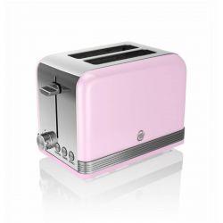 Swan Retro 810W 2 szeletes rózsaszín kenyérpirító