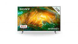 """Sony KD55XH8077SAEP 55"""" 4K UHD Smart LED Android ezüst televízió"""