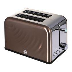 Swan Copper 810W 2 szeletes barna kenyérpirító