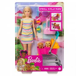 Mattel Barbie Stroll 'N Play Pups baba kiegészítőkkel