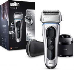 Braun Series 8 8390cc Wet&Dry Clean&Charge tisztító- és töltőegységgel és utazótokkal ezüst elektromos borotva