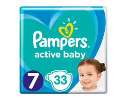 Pampers Active Baby XX 7-es 33 darabos pelenka