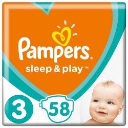 Pampers Sleep and Play 3-as 58 darabos pelenka