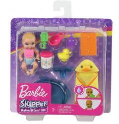Mattel Barbie (GHV83/GHV84) Skipper Bébiszitter szett kisbabával és kiegészítőkkel