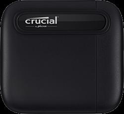 Crucial X6 1TB USB-C 3.1 Gen-2 fekete külső SSD