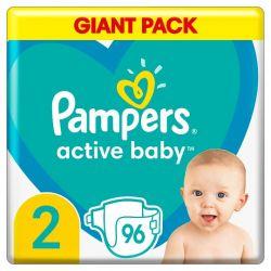 Pampers Active Baby 2-es 96 darabos pelenka