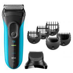 Braun Series 3 Shave&Style 3010BT NiMH, 45 perc üzemidő, fekete-kék borotva