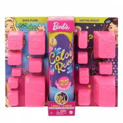 Mattel Barbie Color Reveal kutyapark és filmest meglepetés baba