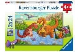 Ravensburger 05030 Dínók világa 2x12 darabos puzzle