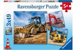 Ravensburger 05032 Óriás munkagépek 3x49 darabos puzzle