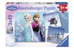 Ravensburger 09264 Jégvarázs jeges kaland 3x49 darabos puzzle