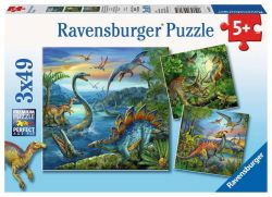 Ravensburger 093175 Dinoszauruszok 3x49 darabos puzzle