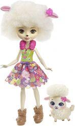 Mattel Enchantimals - Lorna Lamb és Flag baba állatkával