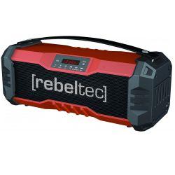 Rebeltec SoundBox 350 Bluetooth, 18 W, USB, AUX, FM fekete-piros hangszóró