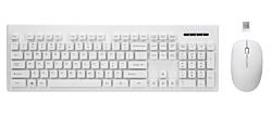 Rebeltec Whiterun 800/1200/1600 DPI, 2,4 GHz, 10 m fehér vezeték nélküli billentyűzet + egér