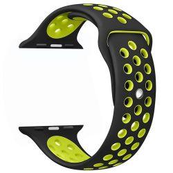 Cellect Apple Watch szilikon fekete/zöld okosóra szíj