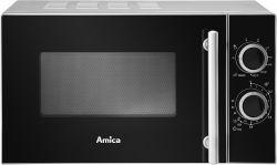 Amica AMGF20M1GS 700W 20L fekete-ezüst mikrohullámú sütő