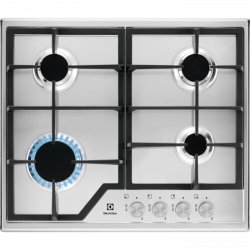Electrolux EGS6426SX 4 főzőzóna, 7800 W inox-fekete beépíthető gáz főzőlap