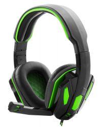 ESPERANZA SNAKE EGH340 fekete-zöld mikrofonos fejhallgató