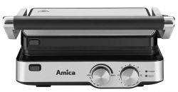 Amica GK 4011 2000 W, 0.9 méter kábel, ezüst-fekete elektromos grill