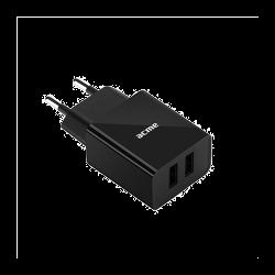 ACME CH204 2.4A univerzális fekete 2x USB hálózati töltő