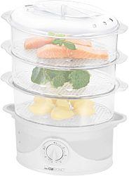 Clatronic DG 3665 800 W, 3 edény fehér ételpároló időzítővel