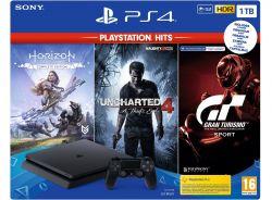 Sony Playstation 4 SLIM 1TB HITS Bundle v3 fekete játékkonzol
