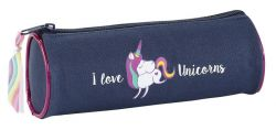 VIQUEL Unicorn cipzáras kék-pink tolltartó