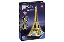 Ravensburger 12579 Eiffel-torony 216 darabos 3D puzzle fénnyel