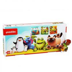 Cubika 12985 Kedvenc állatok 3 az 1-ben XXL puzzle